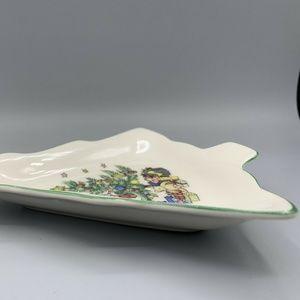 Nikco Dining - Nikco Japan Porcelain Christmas Tree Trinket Tray